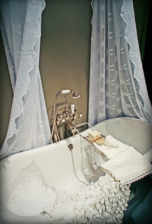detail of inter of classic bath room Stock Photo - 12958277