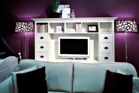 shelfs: living room  with book shelfs