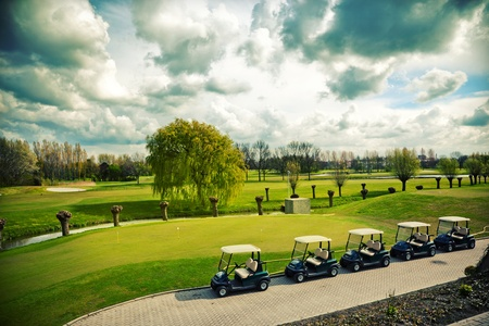 country lifestyle: golf  landscape in spring day