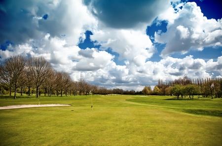 country club: spring by golf club field
