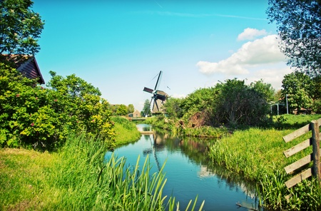 old dutch village in country side photo