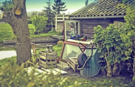 retro stylish photo of old dutch country-side  house Stock Photo - 13644841