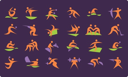 Symbols of summer Olympic sports Vector