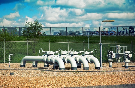 industrial landscape with pipes Stock Photo - 14341703