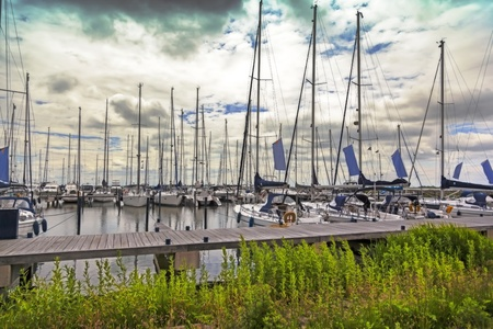 seascape with sail boats by Volendam photo