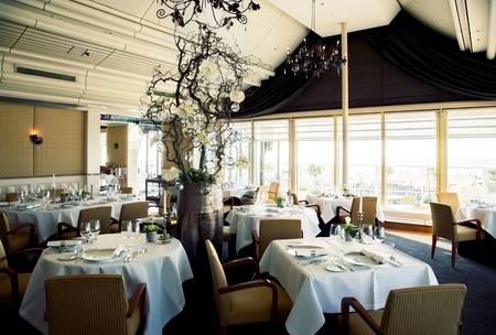restaurant interior: interior of restaurant with big window