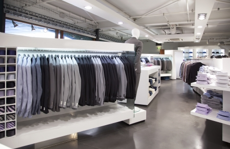 clothing store: general view of modern store