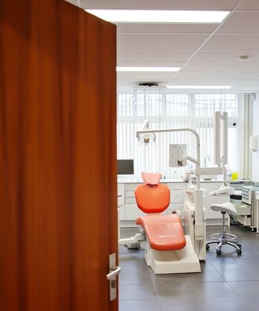 dental clinic: entre to  new empty dental room