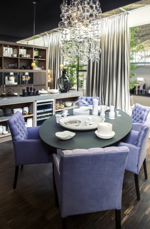kitchen ware: dinner  table in living room