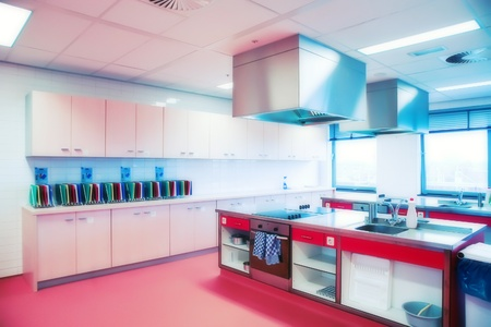 service industry: educational new kitchen in HoReCa college
