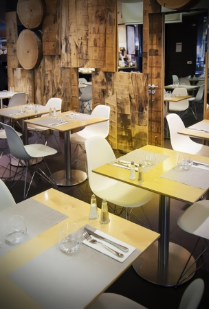 wooden restaurant in ecological theme photo