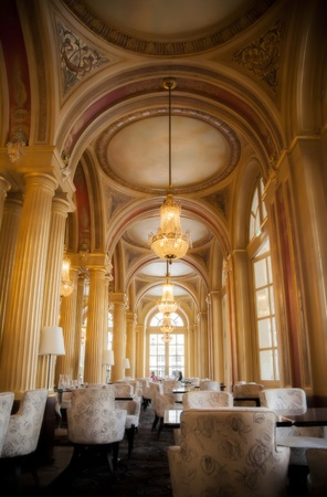 classic interior with golden columns Stock Photo - 14902033