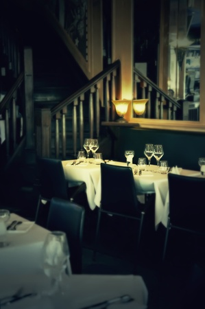 evening  interior in France restaurant Stock Photo - 14902023