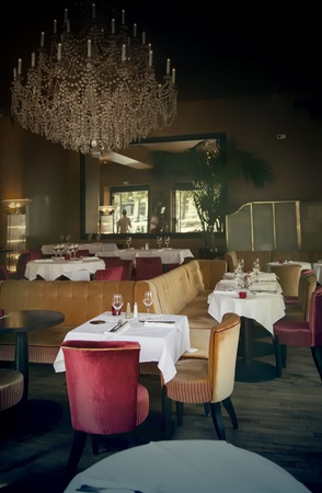 classic interior in France restaurant Stock Photo - 14902025