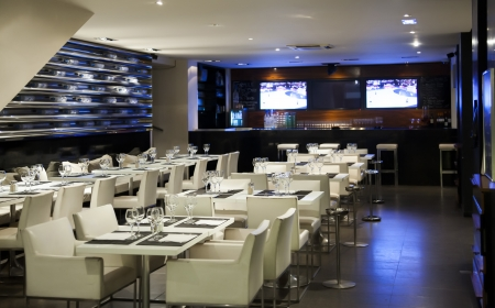 modern interior in wine restaurant Stock Photo - 14902031