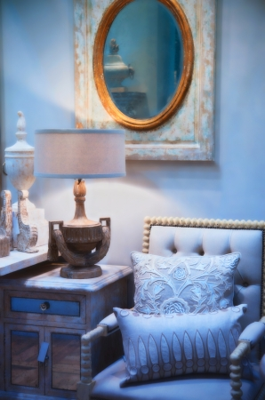 vintage living room: detail in classic interior with chair Stock Photo