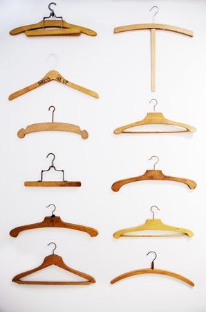 retro hangers background on white background Stock Photo - 15688982