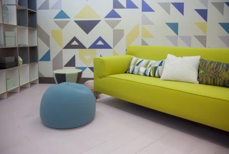 Detail home interior mit stilvollen Sofa Standard-Bild - 15688984