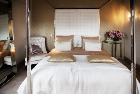 luxery: detail of classic luxery bed
