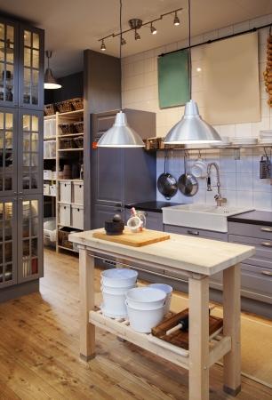 kitchen detail: detail of  country style kitchen Stock Photo