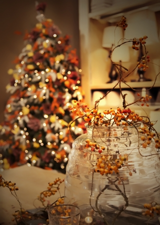 Christmas tree and home decoration  photo