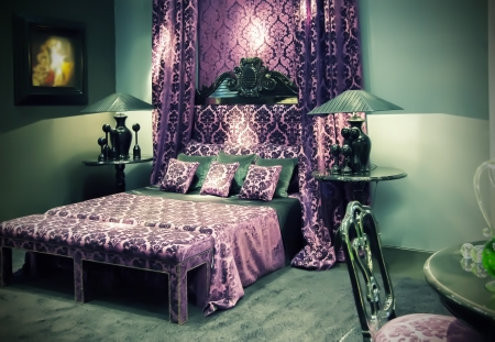 luxery: detail of classic luxery bed and pillows