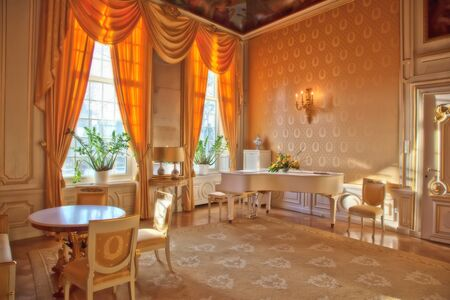 draped: interior of luxury classic palace
