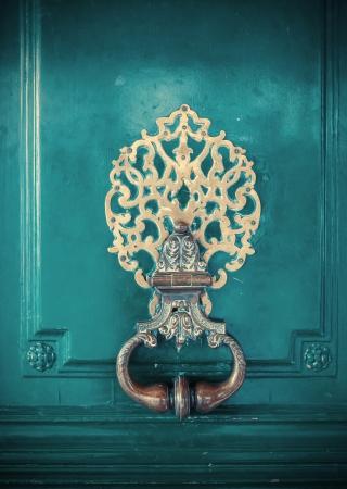 locks: detail of door decoration  Stock Photo