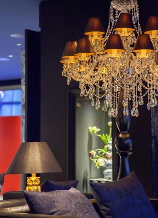 Kandelaber in Amsterdam klassisches Interieur Lizenzfreie Bilder