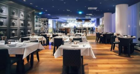 kitchen restaurant: modern Amsterdam Stock Photo