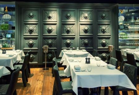 bar interior: decorative wall in Amsterdam