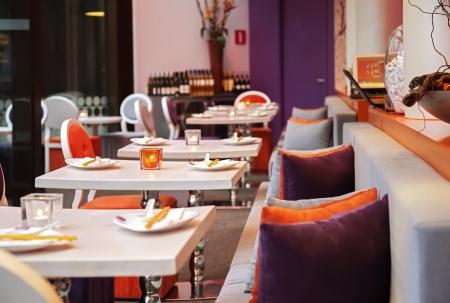 STLichen Details in restaurant interior Standard-Bild - 18294477