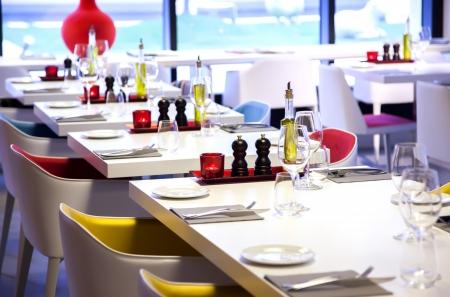 bunte Details in restaurant interior