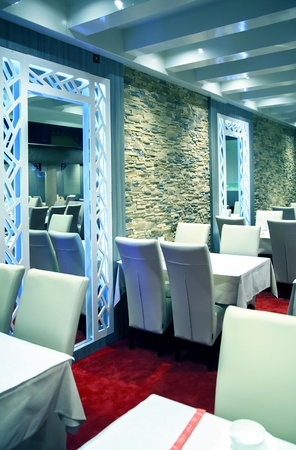 modern eastern detail in restaurant interior photo