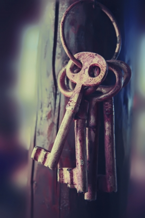 antique key: background with mystery keys