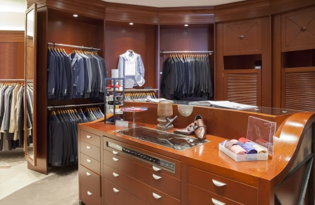 interior of classic man dress shop Фото со стока - 20487095