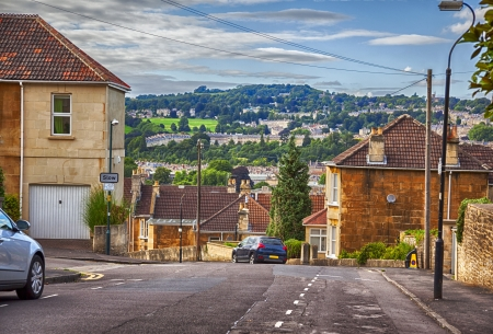 avon: typical old English  village by evening Stock Photo