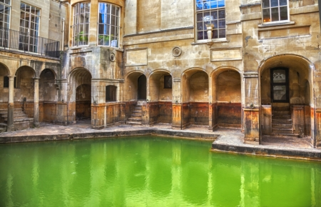 Roman Begriffe in Bath historischen Komplex Lizenzfreie Bilder