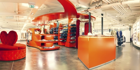 stylish interior of dress shop Stock Photo - 22010607