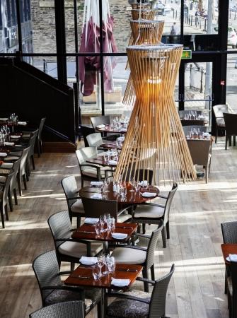 stylish modern interior of restaurant