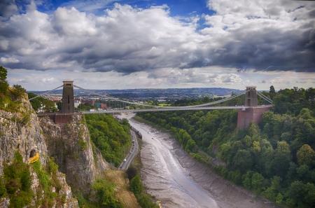 panorama of Bristol bridge near Clifton village  photo