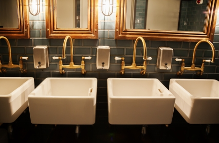 public house: stylish washroom in restaurant Stock Photo