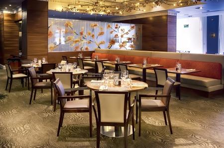 detail of table in modern restaurant