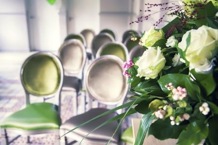 ceremonial: detail of wedding ceremonial room  Stock Photo
