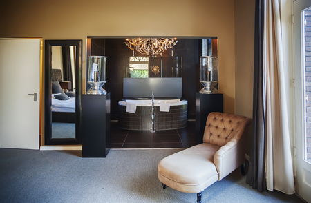 luxury lounge room in hotel photo