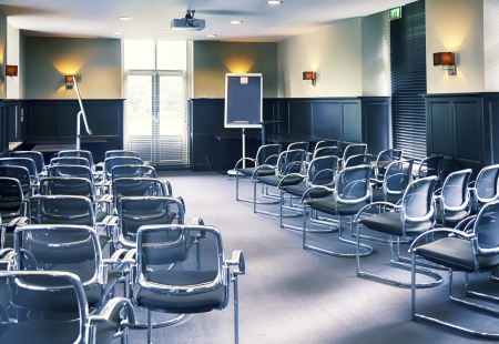 interior of empy conference room photo