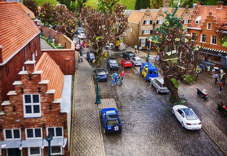 toy installation of dutch mini town  photo