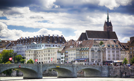 historical center of Basel,  Switzerland , august