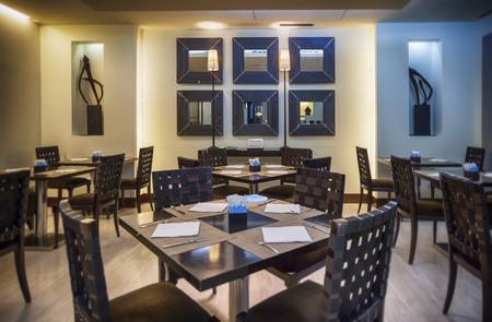 brasserie: modern restaurant in Japanese style Stock Photo