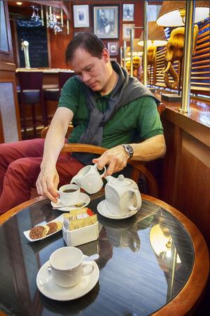 man in hotel bar photo